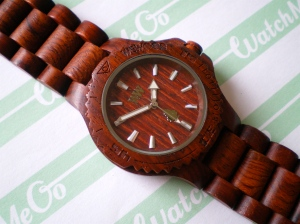 WeWood watch in brown